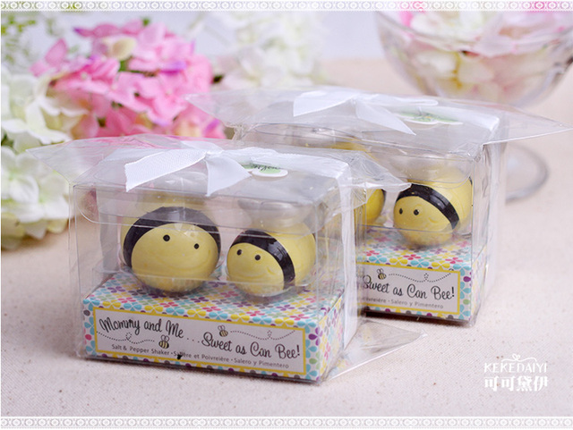 Mommy And Me Sweet As Can Bee Honeybee Salt Pepper Shakers 120set Lot Wedding Favor