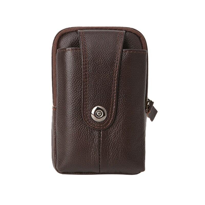Bisi Goro Multi-function Phone Coin Men Waist Bag Vintage On The Belt Outdoor Small Wallet 2019 Wear-resistant Pu Heuptas Heren Fine Jewelry