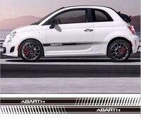 Diy Car Styling Abarth Side Skirt Sticker Racing Stripe Body Stickers Car Styling For Fiat Bravo