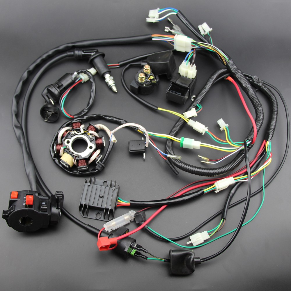 high quality complete electrics all wiring harness wire loom assembly for  gy6 125cc 150cc atv / buggy