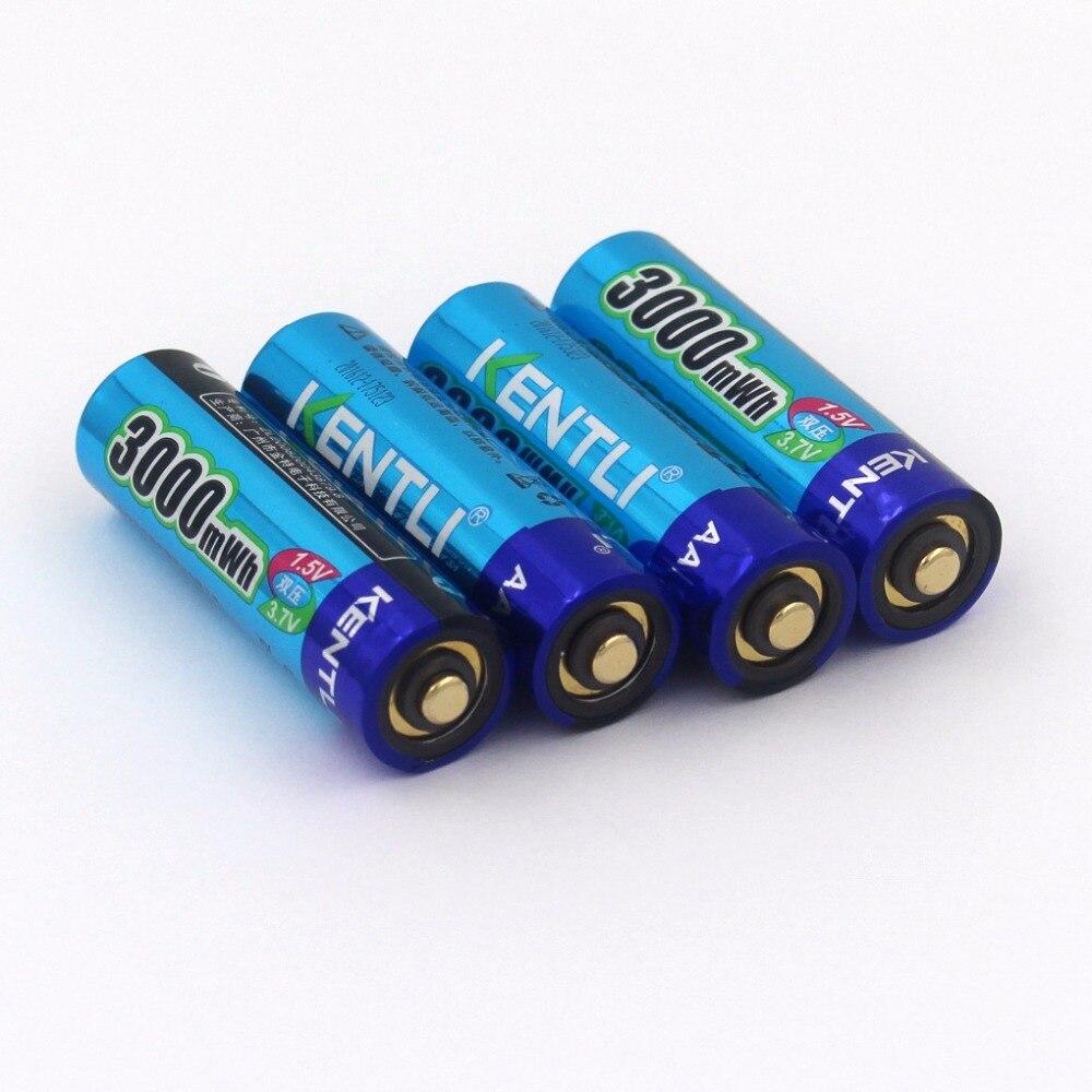 KENTLI 1,5 v 4 шт./лот 3000mWh AA батарея + 4pcs1100mWh AAA батарея перезаряжаемая батарея литий полимерная батарея - 2