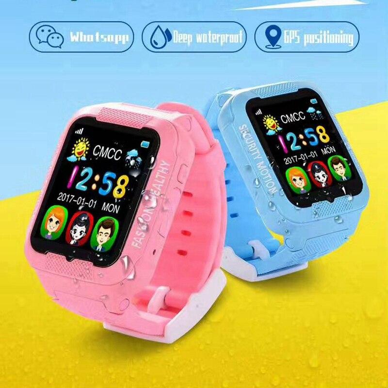 GPS LBS AGPS enfants enfants montre-bracelet étanche K3 Support SIM TF carte interphone vocal écran tactile bébé numérique montre intelligente hommes