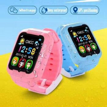 Gps фунтов в gps Для детей наручные Водонепроницаемый K3 Поддержка SIM TF карта голосовой домофон Сенсорный экран детские цифровые «Умные» часы Д...