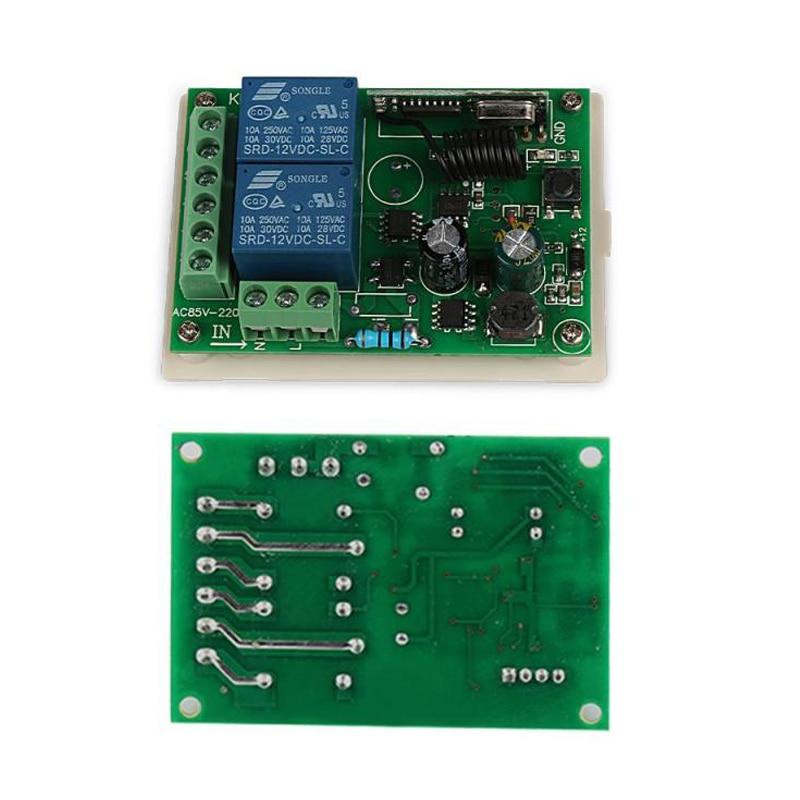 Image 5 - 433MHz Universal  Wireless Remote Control Switch AC 250V 110V 220V 2CH Relay Receiver Module + RF 433 Mhz Remote Controls-in Remote Controls from Consumer Electronics