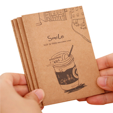 1pcs/lot vintage soft kraft paper notebook pocket journal cute notepad stationery diary agenda for school and office supply