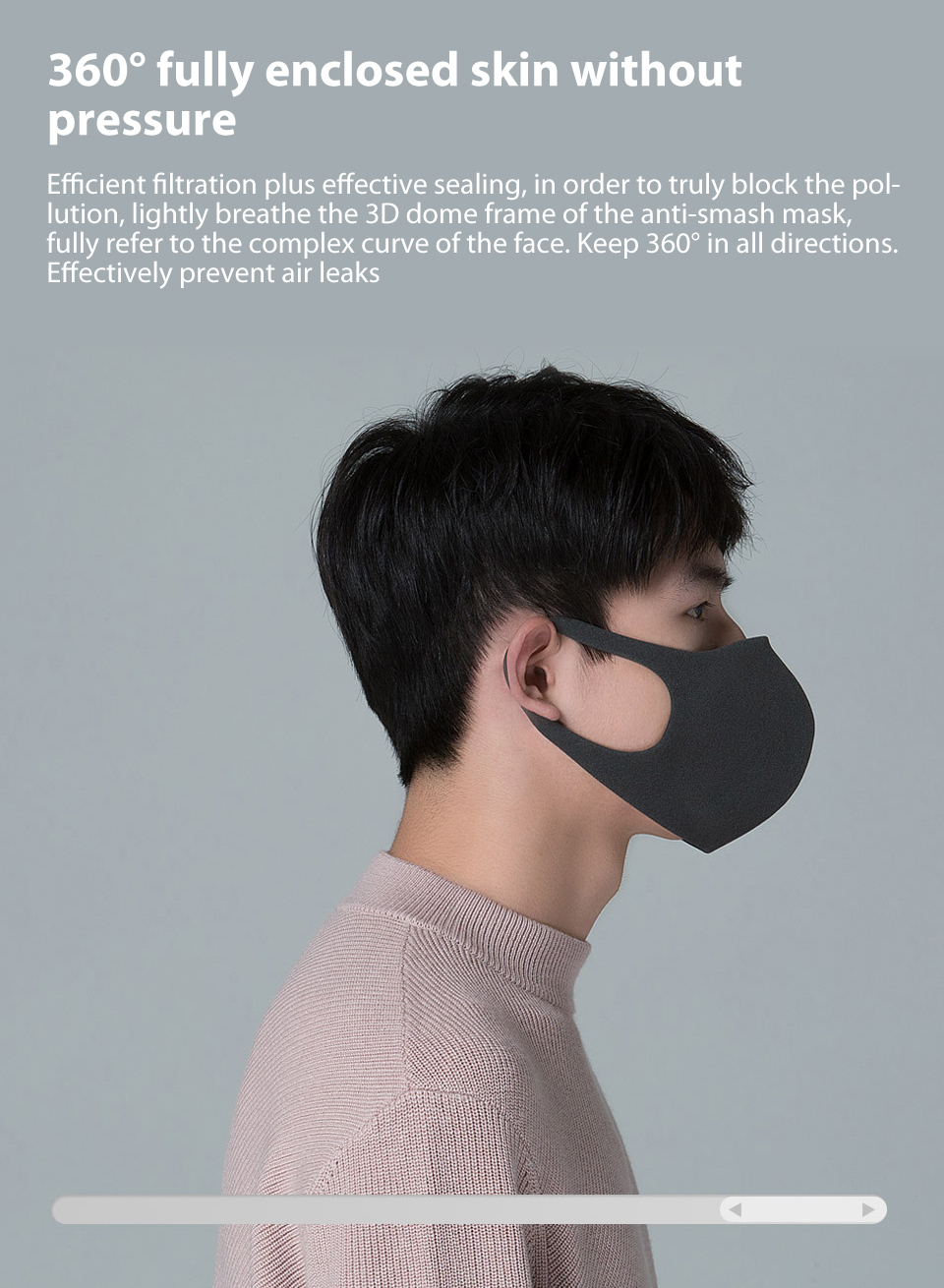 Xiaomi Mijia Smartmi Filter Mask Block 97% PM 2.5 with Ventilating Valve Long-lasting TPU Material 3 PCS Filter Mask Smart Home (11)