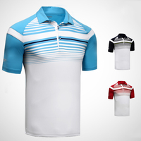 NEW 2018 Men Tops Golf Tshirt Apparel Short Sleeve T Shirt Polo Shirt Breathable 86% Polyester 14% Spandex High quality