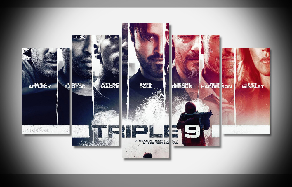 6874 Triple 9 2016 Movie Poster WallpapersByte com poster Framed Gallery wrap art print home wall decor wall picture Already