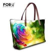 Mode Blume Stieg Drucken Tragetaschen Große Kapazität Umhängetasche Handtaschen für Frauen Beiläufige Dame Top Griff Taschen Bolsas Mujer