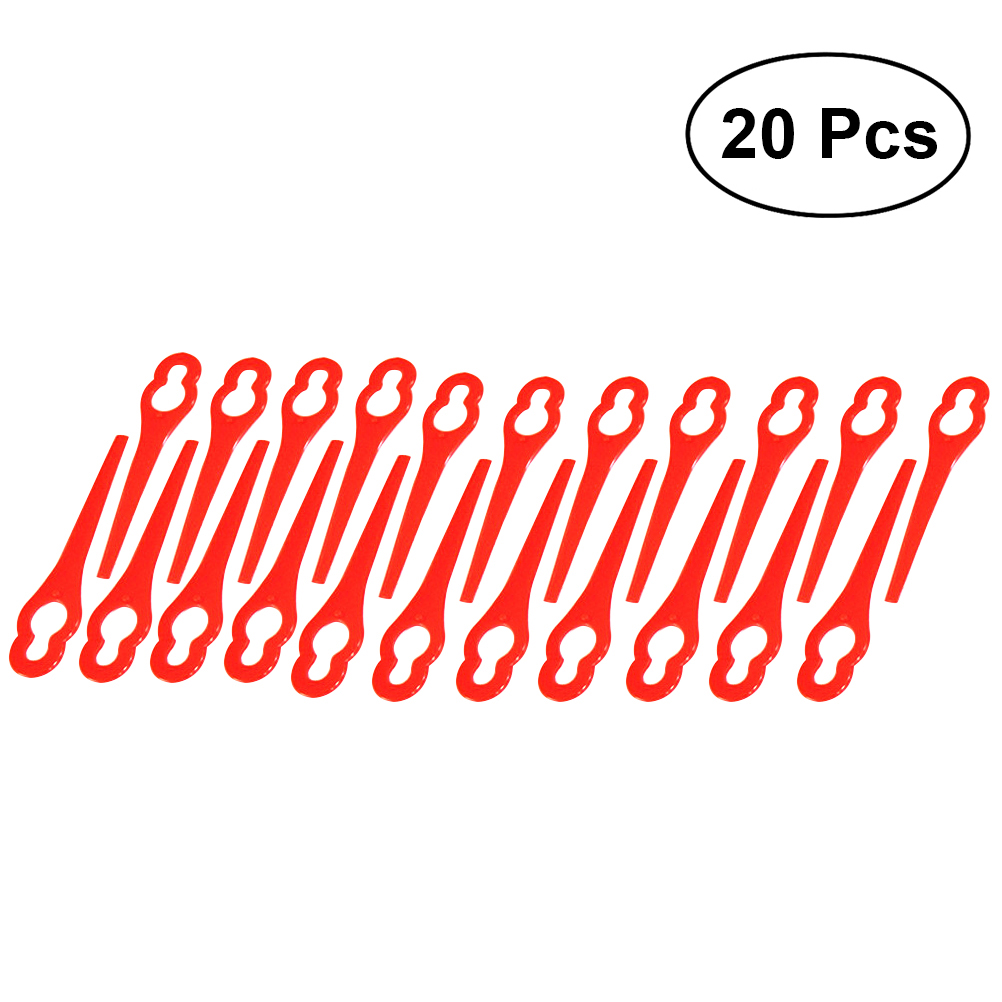 20pcs Plastic Grass Trimmer Blades Mower Replacement Trim Fast Switchblades  Red