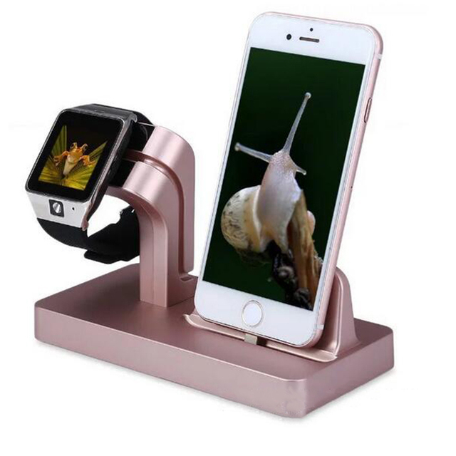 Charger Dock Station Charging Dock for iPhone Apple Stand Watch 38mm 42mm Holder Bracket Desktop Stand Cradle Holder
