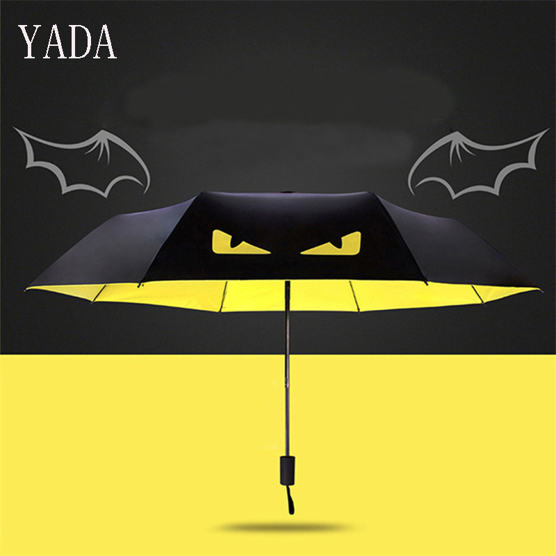 YADA New Fashion Personality Creative The Eye Of Devil Folding Umbrella For Men Wind Proof-portable Anti UV YS315