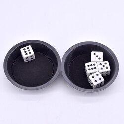 10 pçs preto super voando dice truques de magia aparecendo perto de truque adereços ilusão comédia mentalismo