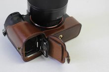 100% Real Leather half Camera case bottom bag skin cover