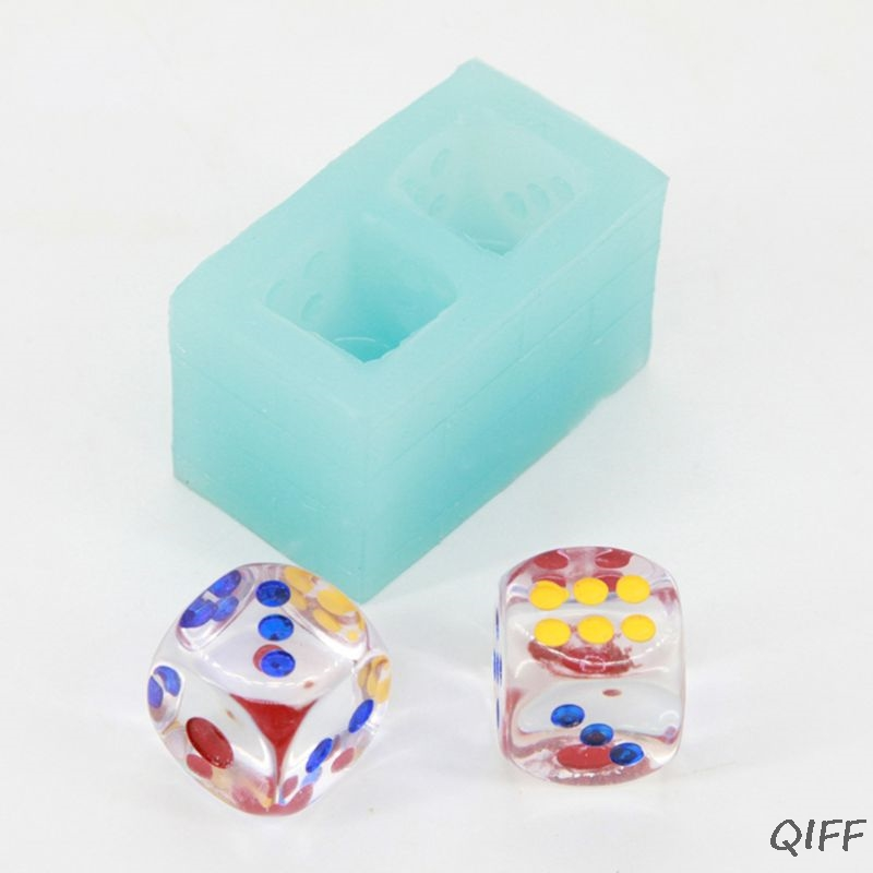 Playing Cubic Dice Silicone Mold Soap Resin Casting Jewelry Making Craft Tools