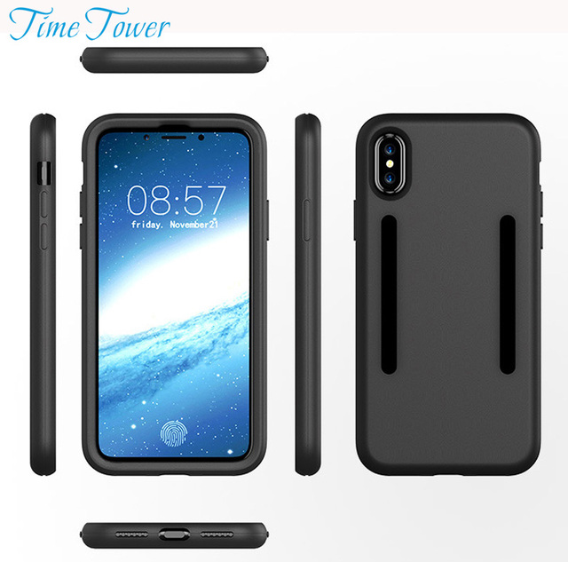 pretty nice 8ad80 22dda US $9.99 |Time Tower Buy 1 Get 1 Free For Apple IPhone X Cover Silicone  Back Soft TPU Phone Cases For IPhone X Case 360 Protector Luxury-in Fitted  ...