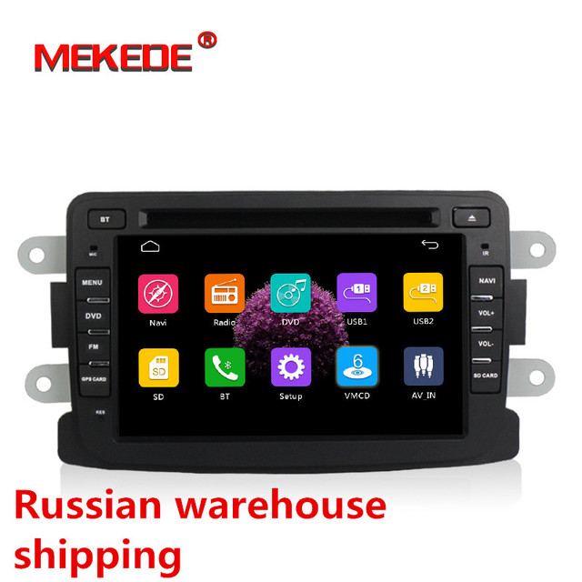 Russian delivery Capacitive screen GPS Navigator Radio For Dacia  Duster Logan Sandero Car DVD Central Cassette Player
