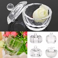 U119 Envío Gratis Unique Clear Nail Art Acrílico Crystal Glass Dappen Dish Liquid Powder Contenedor
