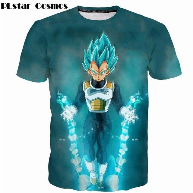PLstar Cosmos fashion Men Women T-shirts Classic anime Dragon Ball Z Super Saiyan Cool Vegeta 3d print casual T shirts tops