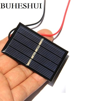 BUHESHUI 2V 140M Solar Panel l+Wire/Cable Polycrystalline DIY Solar Cell Module Charger For 1.2V Battery Light 10pcs 58*38mm image