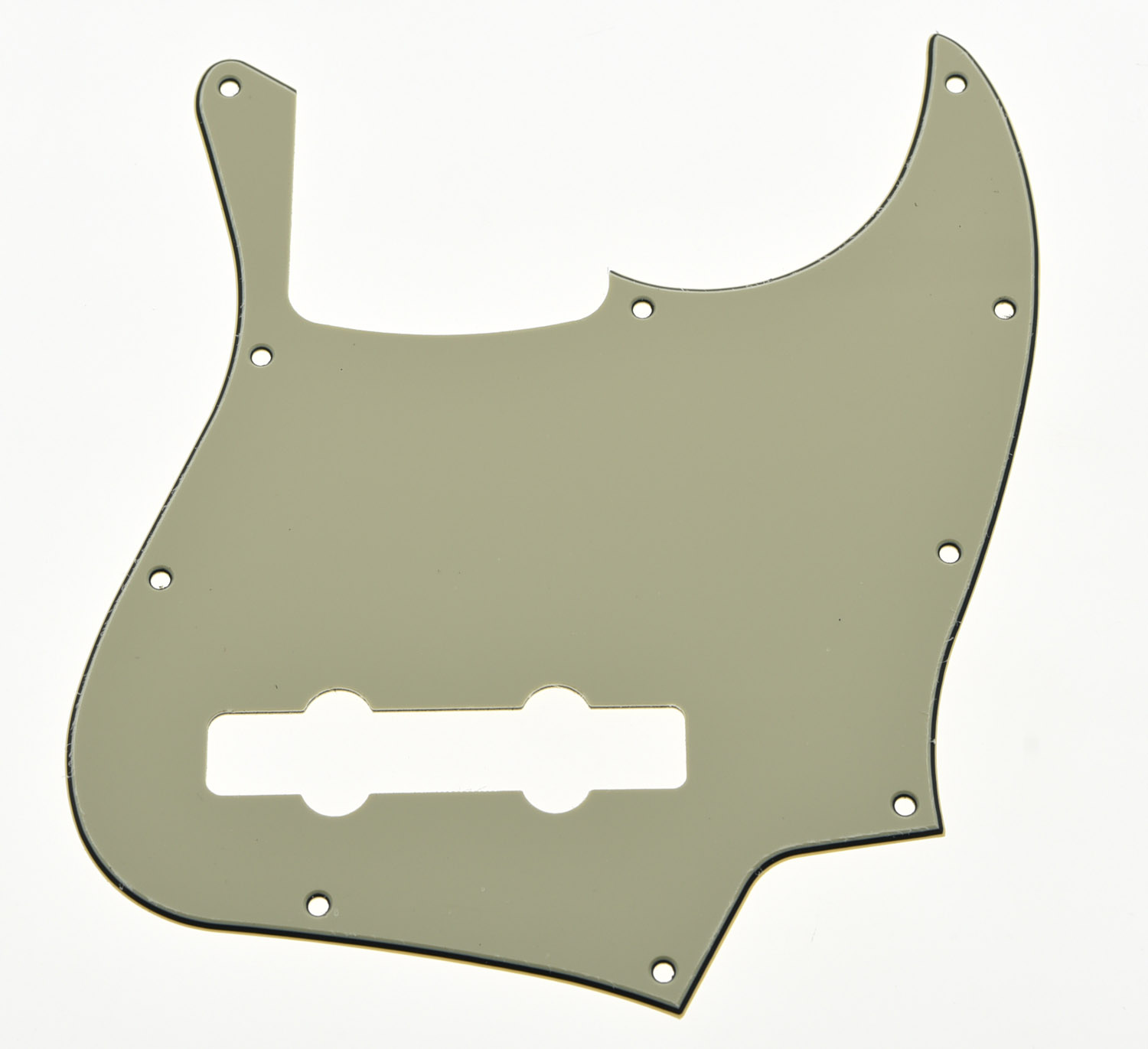 KAISH  Jazz J Bass Pickguard Scrach Plate Light Cream Fits for  5 String chrome plated wired control plate for jazz bass total approx 152 54 mm l 344