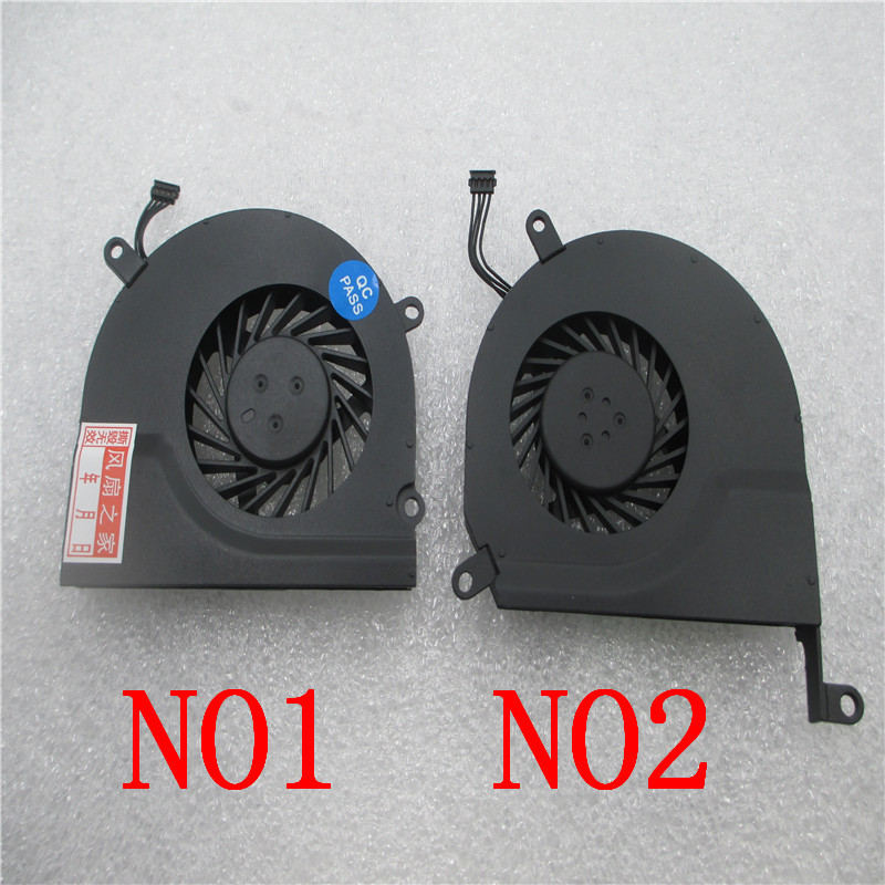 A pair Laptop CPU Cooling Fan for Apple MacBook Pro 15 MB470 A1286 MB985 MC118 MB471 MB986 Fan new laptop battery for apple 15 macbook pro a1286 2008 a1281 mb772 mb772 a mb772j a mb772 mb470