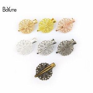 Image 5 - BoYuTe 40 шт. 7 цветов филигранная заколка для волос ювелирные изделия комплектующие Diy ручной работы ювелирные аксессуары