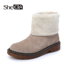 New Fashion Women Boots Khaki/Black Zip Women Ankle Boots Winter Snow Boots Keep Warm Lady Shoes Classic Female Shoes She ERA free shipping top fashion new women boots 2017 winter women shoes 100% genuine leather snow boots lady warm brand ankle shoes