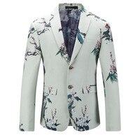 الصينية تصاميم الأبيض السترة الرجال يتأهل الأزياء الحلل واحدة اعتلى رجل الأزهار أنماط عمل دعوى سترة اللباس الرسمي