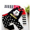 New baby Cartoon clothing set Girls boys Minnie clothes sets kids cotton Pullover+pants christmas 2pcs Children suits