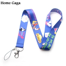 Homegaga Sex and the City feminist keychain lanyard webbing ribbon neck strap fabric badge phone holder necklace accessory D1688