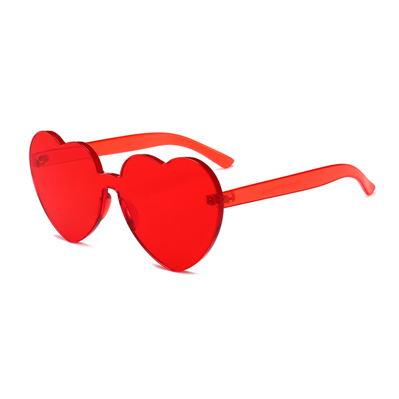 Heart Shape Cute Sunglasses para mujer Rimless Vintage Design Frame - Accesorios para la ropa - foto 3