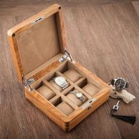 luxury Rosewood 6 slot watch boxes wooden watch storage box watch gift box for jewelry organizer storage home decorative MSBH004
