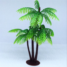 5PCS Cheap Palm Green Scenery Landscape Model Tree Forest For Miniature Landscape Suitable For Decoration Free Shipping