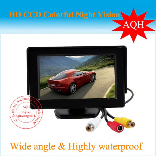 Promotion 4.3 inch HD Car monitor Car Color TFT LCD display Monitor Rearview DVD w/ PAL/NTSC free shipping Wholesale