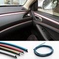 HUANLISUN 1 M Interior Exterior Moulding Trim Para Coche Universal Car Styling Flexible PVC Tira Decorativa Con 5 Color