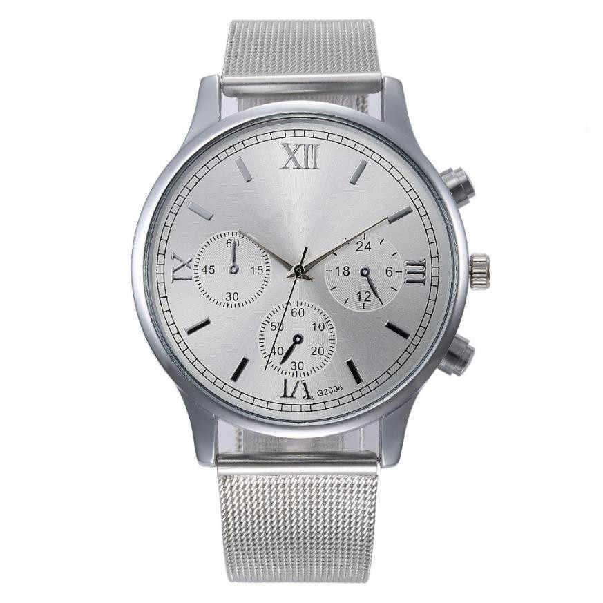 קלאסי של גברים של נשים רצועת פלדת שעון יד קוורץ Relojes Hombre מקרית שעונים Mens שעוני מותג עליון אופנה Saat גברים שעון