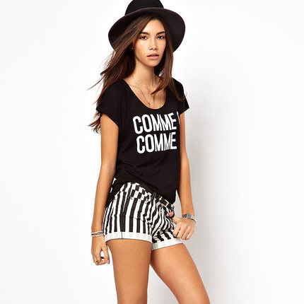 Popular Black White Striped Shorts-Buy Cheap Black White Striped ...