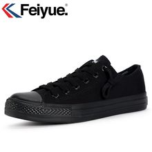 Feiyue New black Classics Shoes, New 2018 Kung fu shoes, Canvas shoes men women shoes Sneakers(China)