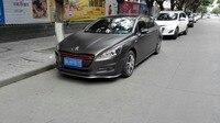 Universal Carbon Fiber Looking Front Bumper Lip Splitter Chin Spoiler For Peugeot 207