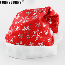 FUNNYBUNNY Unisex Snowflake Christmas Santa Sequins Hats Xmas Father Gift Party Caps