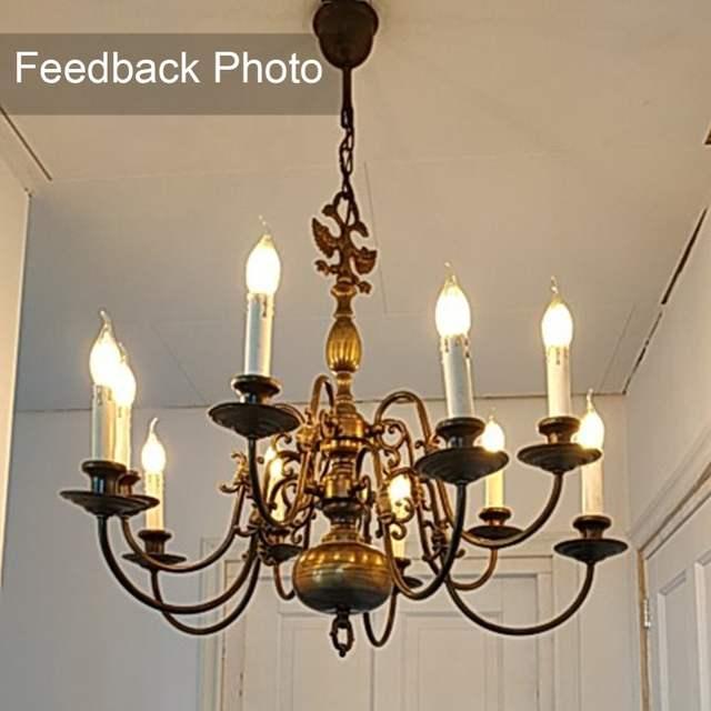 Us 1 77 11 Off Ganriland Led E14 Dimmable Gold Mini Tubular Chandelier Night Lamp 0 5w 1w 2w 4w 2200k E12 220v Vintage Filament Light Bulbs In