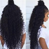 Brazilian Remy Human Hair Glueless Full Lace Wigs Kinky Curly Natural Color 130% Density Tangle Free DHL Free Shipping