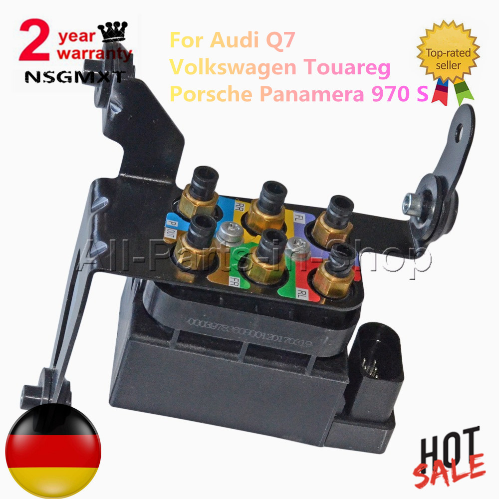 Air Suspension Compressor Solenoid Valve Block For Audi Q7 Porsche Touareg V1 0 Engine Diagram Volkswagen Panamera 970 S 48l 30 97035815302