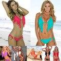 Borla maiô NOVO 2017 biquíni maiô da moda Sexy Rendas das Mulheres swimwear Sexy maiô triangular sunga
