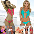 Tassel swimsuit NEW 2017 bikini fashion Sexy swimsuit Women's Lace swimwear Sexy triangular swimsuit swimming trunks