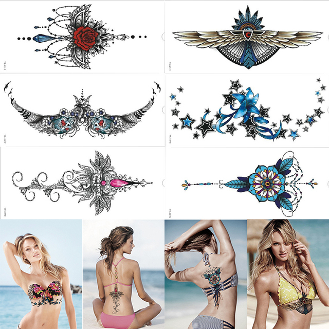 1 Piezas 2016 Nuevo Diseño Hermoso Impermeable Debajo Del Tatuaje