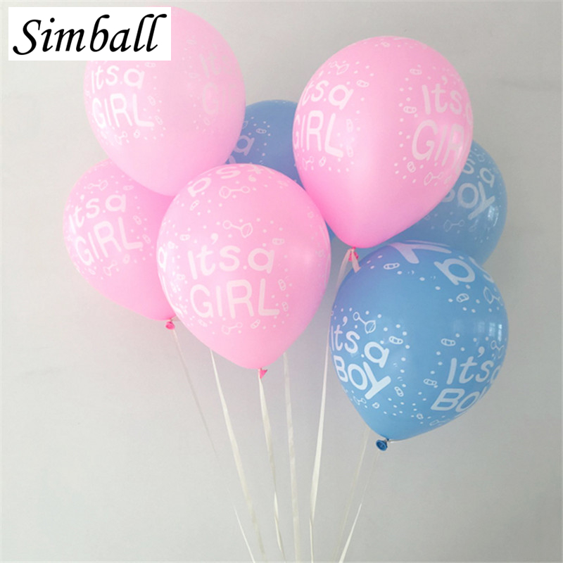 10pcs 12Inch Its a Boy And Its a Girl Latex Balloon Inflatable Air Ball Baby Shower Birthday Party Supplies Decoration Balloon