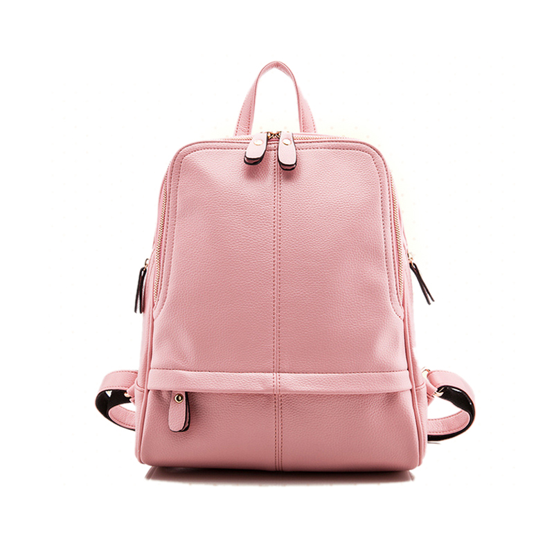 ФОТО New 2017 Women Backpack Waterproof Pu Leather High Quality Mochila Women's Backpacks Female Casual Sac Solid Bag Teenagers Bags