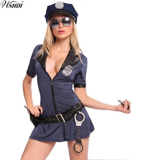 Vestiti Halloween Fai Da Te Adulti.Us 12 67 25 Di Sconto Vendita Calda Blu Della Polizia Costume Sexy Delle Donne Cop Uniform Adulti Costumi Di Halloween Cosplay Partito Fancy Dress